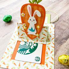 Easter Gift Card by jeanmanis - Cards and Paper Crafts at Splitcoaststampers Center Step Cards, Slider Cards, Starbucks Gift Card, Spellbinders Cards, Interactive Cards, Easter Gift, Card Tags, Cardmaking, Paper Crafts