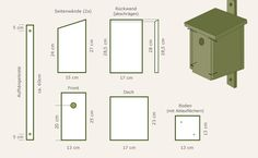 Build and attach the nest box yourself – Fireplace Ideas 2020 Mirror Room Divider, Room Divider Shelves, Bird House Plans Free, Garden Deco, Diy Fireplace, Nesting Boxes, Shower Remodel, Home Hardware, Home Logo
