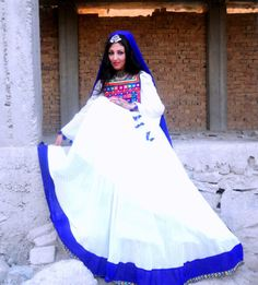 Afghan traditional dress in latest design