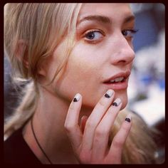 Nails at Kaelen Spring 2013. Get the look with @butterLONDON Yummy Mummy and Union Jack Black. #nyfw #backstagebeauty #nails