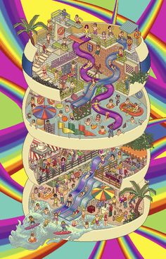"MENTOS ""water park"" by oomleo , via Behance"