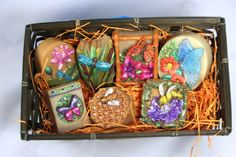 Bees, Butterflies, and Bugs Soap Gift Pack Soap Making Process, Cold Process Soap, Bamboo Basket, Gift Baskets, Soaps, Bees, Butterflies, Hand Painted, Gifts