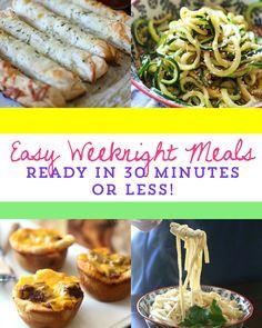EASY dinner ideas!!