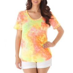 Tie-Dye Tee with Pocket, I want to make this..