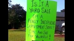 funny garage sale signs - Google Search