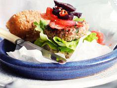 Kangaroo Burgers with Beetroot Salsa