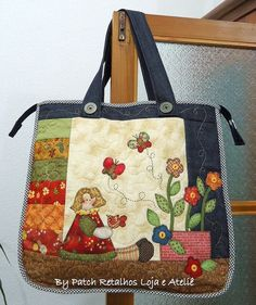 Patchwork bags to make fun 41 Ideas Quilted Tote Bags, Denim Tote Bags, Patchwork Bags, Reusable Tote Bags, Fabric Purses, Fabric Bags, Craft Bags, Handmade Bags, Bag Making