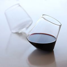 Look ma... no hands... no spill!  Got my name all over 'em - Cupa Wine Glass Set