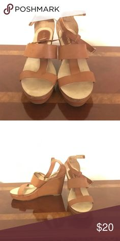 Wedge Sandal, Brown Report Wedge Sandal, never worn! Sole still has original stickers on the bottom, no scuff marks! Couldn't find the receipt to return, so they're going up for sale! Report Shoes Wedges