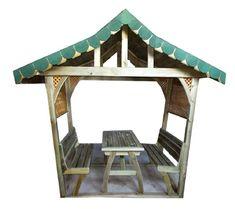 KG1008A - Piknik Masası Ahşap Direkli Çatılı | Kamelya, Gazebo Ve Pergoleler | Kent Ve Bahçe Mobilyaları | Şehir Mobilyaları | Doapark