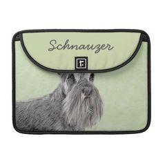 #Schnauzer MacBook Pro Sleeve - #miniature #schnauzer #puppy #schnauzers #dog #dogs #pet #pets #cute #miniatureschnauzer