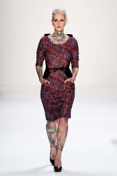 Anja Gockel panelled boucle dress