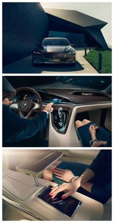 BMW has unveiled Vision Future Luxury, a saloon concept car featuring augmented display technology. Click to find out more. #spon #luxury
