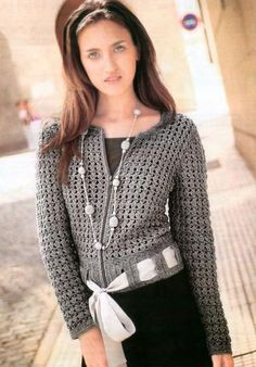 crochet cardigan - Russian pattern - google translatable with diagrams!