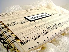 Vintage Sheet Music Wedding Photo Album  by VintagePageDesigns, $15.00