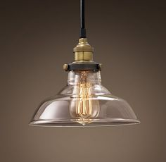 Glass Barn Filament Pendant from Restoration Hardware. $99 - Possible pendants to hang over the island?