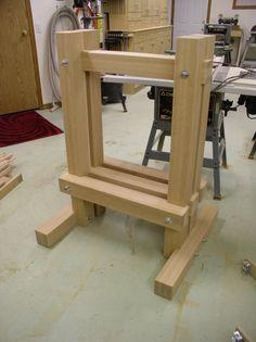 apple cider press -- completed frame