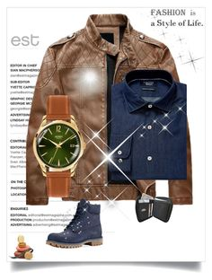 """Est"" by eldar92 ❤ liked on Polyvore featuring Henry London, Original Penguin, Timberland, men's fashion and menswear"