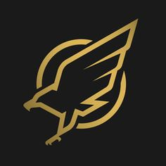 Eagle logo, emblem on a dark background. Hawk Logo, Falcon Logo, Branding Design, Logo Design, Esports Logo, Graphic Art, Graphic Design, Eagle Logo, Skateboard Design