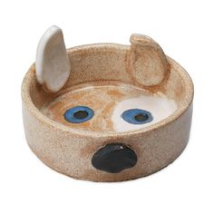 pigDog bowl - there is also cat food on this page Animal Bird Gifts Lovers Ceramic Dog Bowl, Ceramic Clay, Pottery Bowls, Ceramic Pottery, Pottery Art, Kids Clay, Clay Bowl, Hand Built Pottery, Ceramics Projects