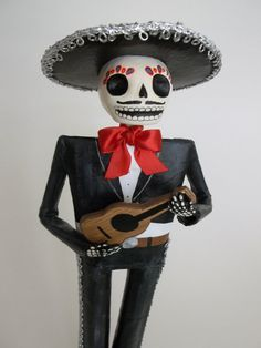 Day of the Dead Mariachi. Paper Mache doll. by LaCasaRoja on Etsy, $32.00