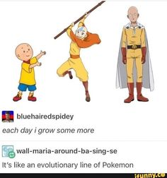 One Punch Man Avatar the Last Airbender Stupid Funny Memes, Funny Relatable Memes, The Funny, Hilarious, Funny Stuff, Random Stuff, Memes Humor, Avatar Funny, Avatar Aang