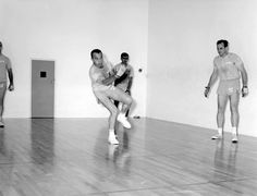 Alan Shepard playing handball with Ed White & Roger Chaffee Gus Grissom, Space Astronauts, Apollo 1, Project Mercury, Nasa History, Space Cowboys, Space Race, Space Shuttle, Cosmos