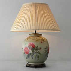 Buy Jenny Worrall Peony Glass Lamp, Large Online at johnlewis.com