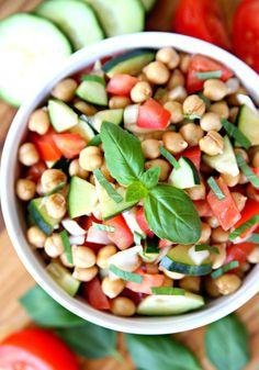 Quick Balsamic Chickpea Salad Recipe