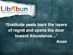 Being grateful for the things we have in our lives is very important to understand abundance!