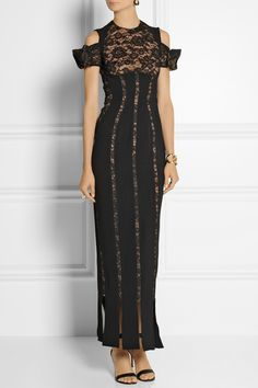 ALESSANDRA RICH Stretch-silk and lace gown $2,630