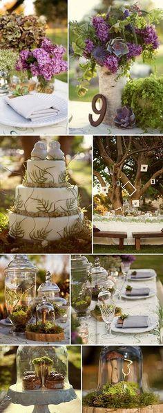 rustic woodland weeding ideas / http://www.himisspuff.com/country-rustic-wedding-ideas/9/