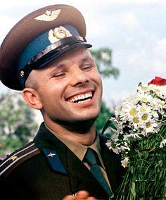 Russia's Yuri Gagarin, first man in space, April 12, 1961.