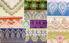 Las más belas Puntillas y bordes de Crochet