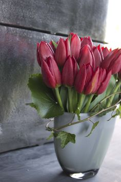 Sweet gathering of tulips. Floral design: Winston Flowers.