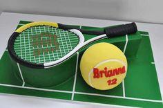 sugar paste cake tennis - חיפוש ב-Google Tennis Cupcakes, Tennis Cake, Tennis Party, Gorgeous Cakes, Amazing Cakes, Fondant Cakes, Cupcake Cakes, Fun Cakes, 30 Birthday Cake