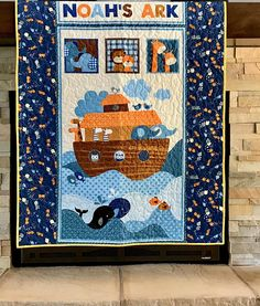 Baby Quilt, Noah's ark crib Quilt, Noah's ark themed nursery bedding, Bible story quilt, Boy or Girl Baby shower gift. Baby Boy Nursey, Baby Boy Or Girl, Baby Boy Nurseries, Nursery Boy, Boy Baby Shower Themes, Baby Shower Gifts, Arche Noah Kindergarten, Purple Baby Rooms, Nursery Themes