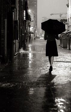 Raining night in Austin