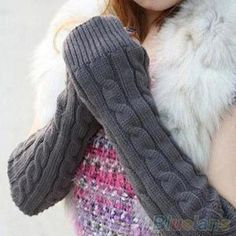 Women's Men's Long Knitted Crochet Fingerless Braided Arm Warmer Gloves 1T58-in Gloves & Mittens from Women's Clothing & Accessories on Aliexpress.com   Alibaba Group