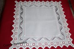 "Hardanger & Bargello Doily ""Twisted Ribbon"" 