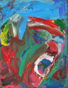 Tim Dayhuff - painting - September 2014 - acylic on fixed Internet photocopy - 8 x 10.5 in