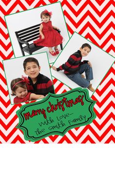 Chevron Christmas Card Digital File RED chevron Red by MadeeBee, $10.00