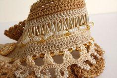 Boho Chic Crochet Bracelet Crohet Cuff Gift for wife by stasiSpark