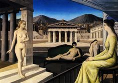 paul delvaux paintings - Google Search