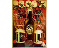 Vintage-Inspired A2 Art Poster - Black Forest Beer