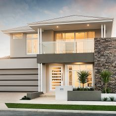 Balcony Homes - Home Decor 4 Bedroom House Designs, Bungalow House Design, House Front Design, Modern House Design, Modern Exterior, Exterior Design, House Elevation, Modern House Plans, Story House