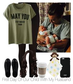 """""""» First Day Of Our Child With My Husband."""" by storyofmylife1danita-scream on Polyvore featuring River Island, Converse, Givenchy and Lambs and Ivy"""