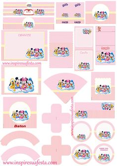 Baby Girl Clipart, Ideas Para Fiestas, Mouse Parties, Baby Disney, I Party, Baby Photos, Chibi, Free Printables, Mickey Mouse