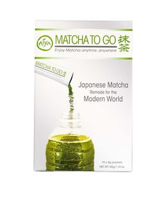 Matcha To Go Stick Packs. Special blend of Aiya Ceremonial Matcha that requires no whisking! Simply stir and enjoy hot or cold.