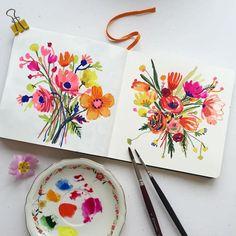 Inspirational IG: Beautiful Watercolor Blooms by Carolyn Gavin